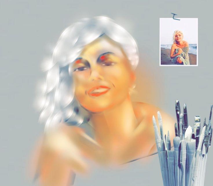 '#art #painting #annsofiart #annsofipainting #marilyn #annsofimarilyn' created by Ann-Sofi in #neybers