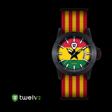 Support #Ghana national #football #team by wearing its #watch from #Twelv2 #2014Collection! In addition to the trendy designs, all #watches are equipped with #Swiss made movements, Ronda caliber 505 & 515 also comes in 2 case sizes, big (44mm) and medium (39mm), in addition to 2 variations in #straps. For more info visit our website :) #Twelvwatch #Twelv2 #fashion #watchoftheday #footballfans #footballlovers #watchlovers #watchfreaks #watchcollection #worldcup2014