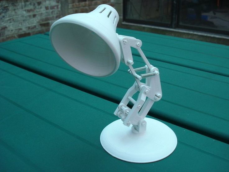 This lamp is made out of several smaller pieces that snap together.