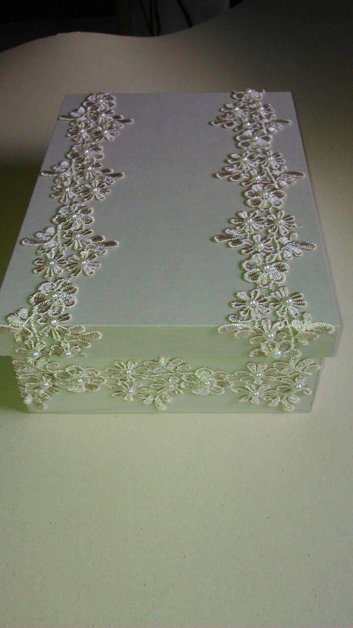 Caixa em MDF coberta com tecido por Raka´s Criações