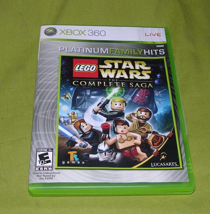LEGO STAR WARS THE COMPLETE SAGA XBOX 360 GAME PLATINUM FAMILY HITS  LUCASARTS