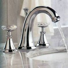 Check out the Grohe 20124-18086 Kensington Widespread Bathroom Faucet with Round Handles priced at $458.45 at Homeclick.com.