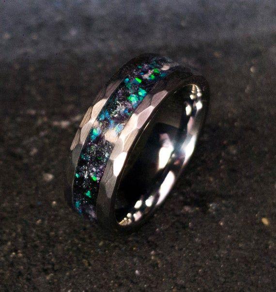 Men/'s opal ring fathers day gift black fire opal opal ring Men/'s ring