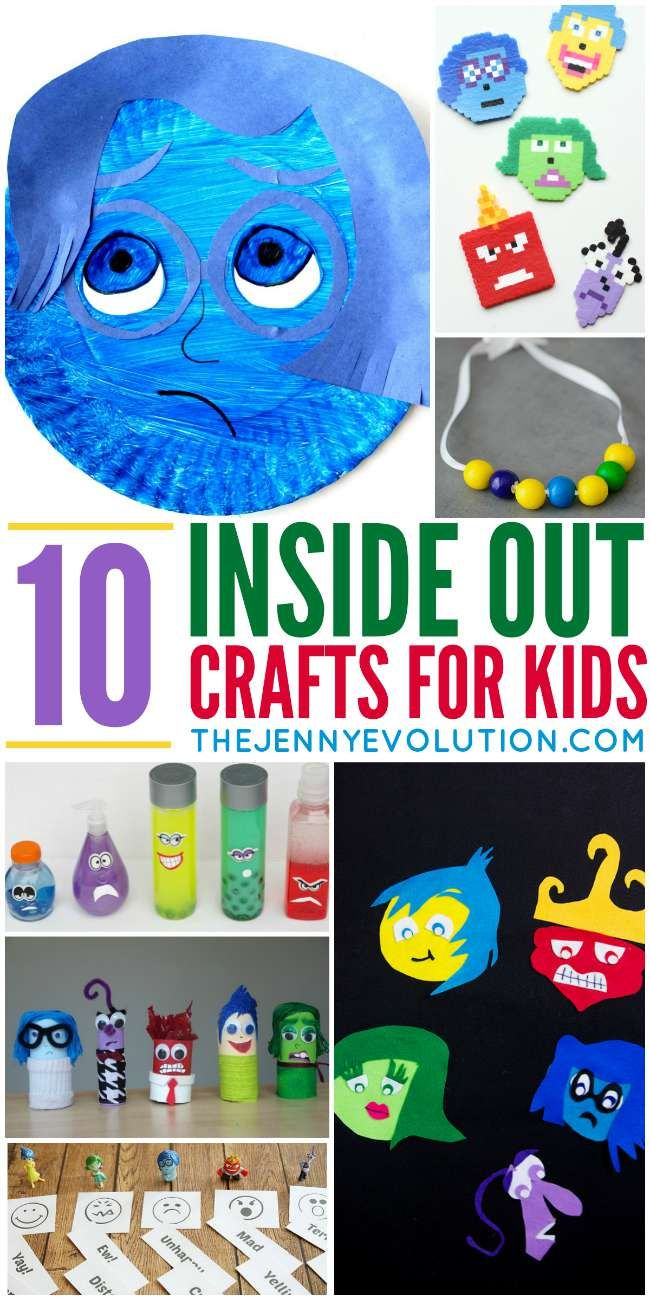 #insideout Inside Out Movie Crafts and Activities for Kids | The Jenny Evolution
