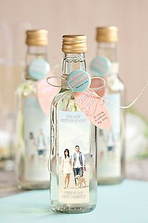 personalized labels for favors - use our bottles to create these yourself