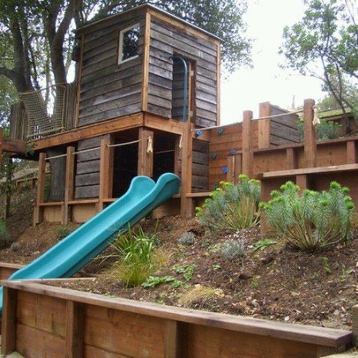 Retaining Wall Ideas For Sloped Backyard: 104 Best Sloped=) Images On Pinterest