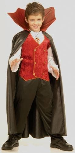 Childrens Costume Boys Vampire Dracula Cape with Stand Up Collar Kids Party Outfit | Shop Halloween Costumes | Kids Costumes | Zombie Infested World | http://www.zombieinfestedworld.com/halloween-horror-costumes.html #halloween #kids #costumes #party: