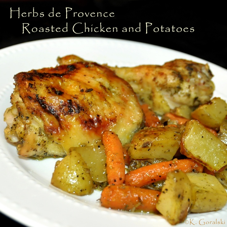 Herbs de Provence Roasted Chicken and Potatoes | Food by Allrecipes ...