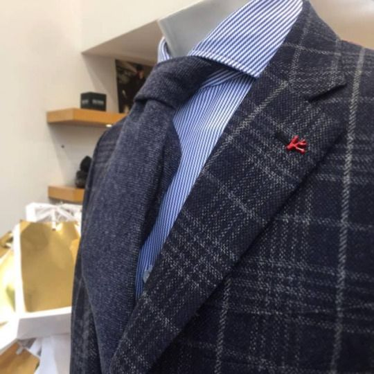 Super 120 checked jacket by Isaia: https://goo.gl/7NESQy  #incrocio #isaia