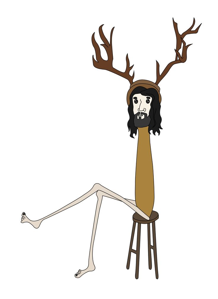 bearded man with moose hat, personal designs Inspired by Australian's surf and skate crowd