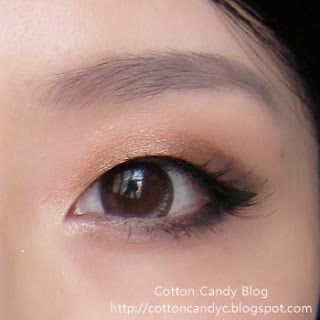 copper eyeshadow for monolids. http://cottoncandyc.blogspot.com
