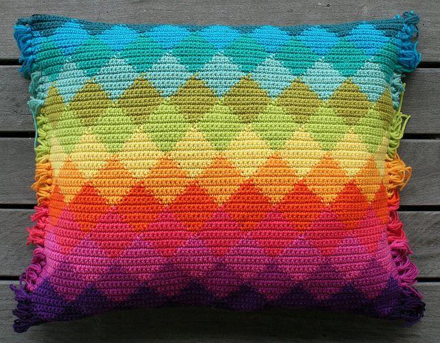 harlequin cushion by rettgrayson, via Flickr