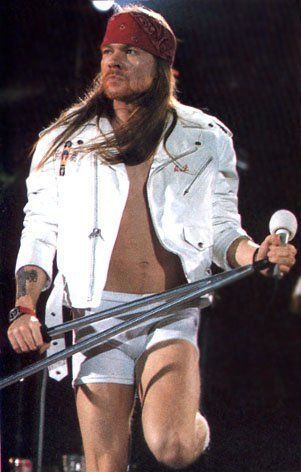 Axl Rose, Freddy Mercury's tribute, London, april 1992
