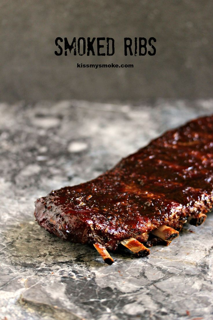 Smoked Ribs- These smoked ribs are cooked to perfection using the 3, 2, 1 method. You are going to love this recipe by kissmysmoke.com ! #sponsored #CelebrateCanada @WeberGrillsCA