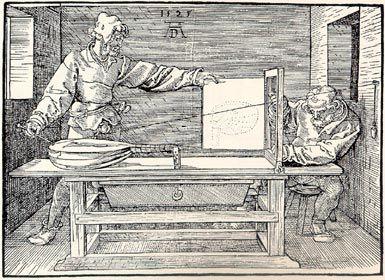 021► Albrecht Dürer, Unterweisung der Messung, 1525.