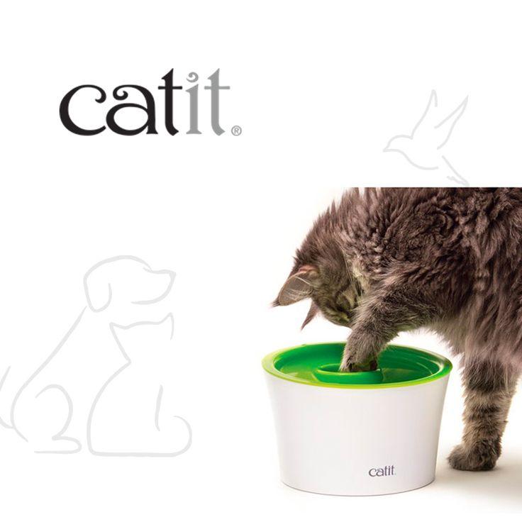 Catit Multi Feeder es un comedero para gatos interactivo con tres prácticas funciones, que es el accesorio perfecto para servir tanto comida húmeda como seca, con un diseño compacto y ergonómico a la medida de tus gatos.