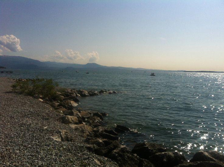 as shiny as this ... lake Garda reflections @ Padenghe sul Garda