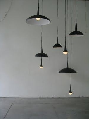 Modern black pendants