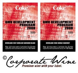 A Customised Label Corporate Wine  created for a beverage , as gifts to their clients.