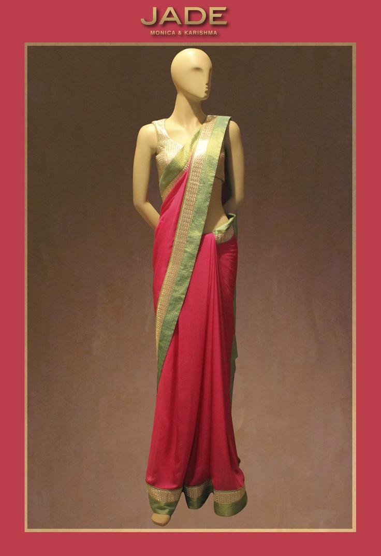 Ready for a Shot of Colour?!  #JADEbyMK #sari #classic #India