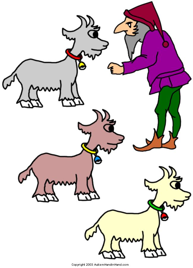 Tell Me a Story Prompts and Visuals - Three Billy Goats Gruff 1