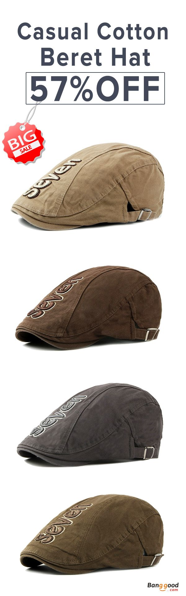 US$8.99+Free shipping. 57%OFF! Men's Beret Hat, Sunscreen Hats, Cotton, Casual Outdoor, Adjustable, Fashion. Color: Black, Khaki, Grey, Coffee, Army Green. Shop now~