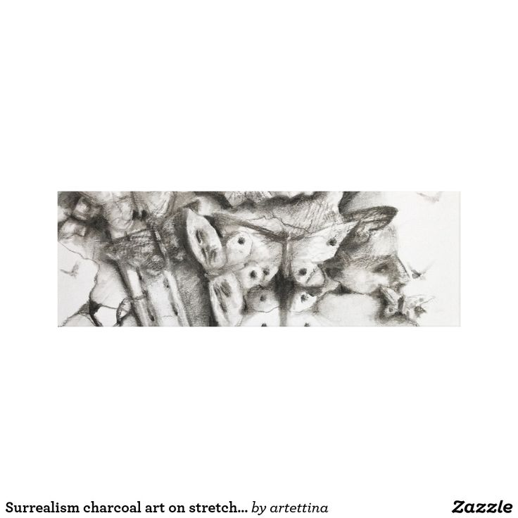 Surrealism charcoal art on stretched canvas