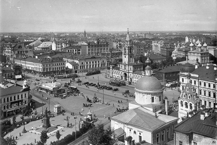 Пушкинская площадь, Страстной бульвар… Снято по всей вероятности, с…