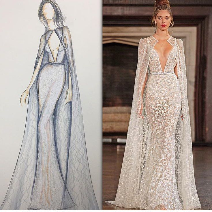 #BERTA masterpiece from sketch to runway! Discover #bertabridal creations @primalicia