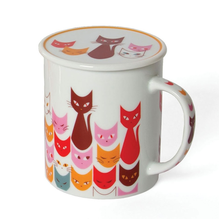 {Cat Mask Mug With Lid In Red} Miya Company