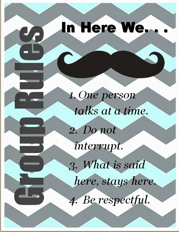 The Middle School Counselor I Mustache You Rules And A Few Questions Great For Group