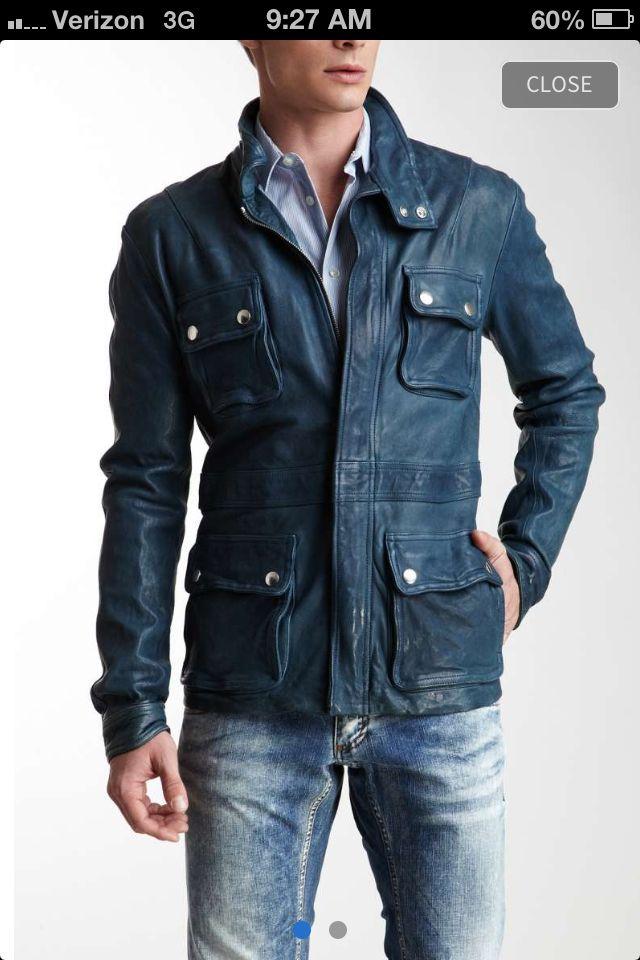 Armani leather jacket on HauteLook. Mine!  ;)