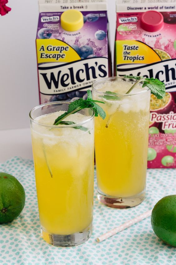 Fizzy Passion Fruit And Lime Cooler Cocktails Pinterest Drinks