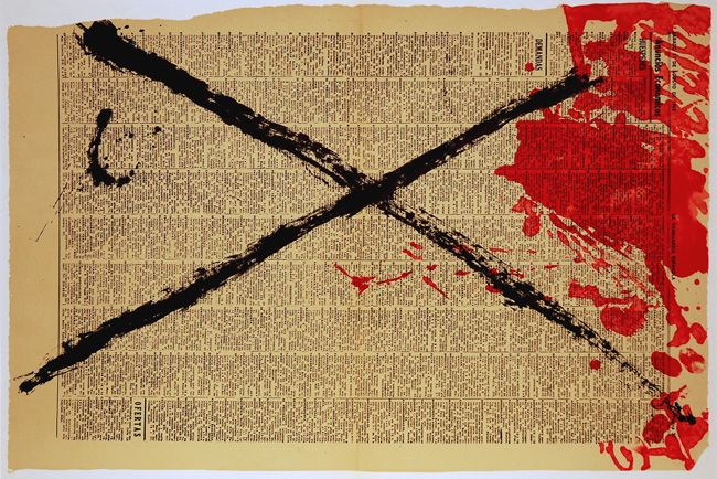Antoni Tapies. Journal (Galfetti 166). Original color lithograph, 1968.