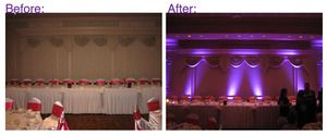 This is a place to rent lights to light up a room on the wedding day.  It is a company from Chicago that ships them to you and then you ship them back.  Great example photos on the website.