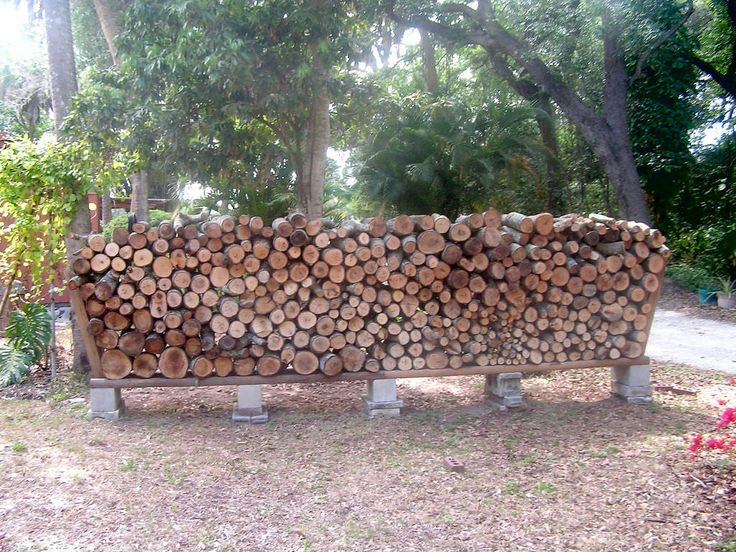 Easy Outdoor DIY Firewood Rack from Cinder Blocks Grills, Bbq & Fire Pits