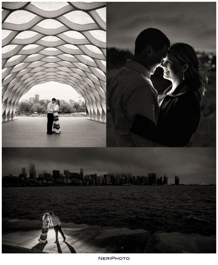 Classic Chicago engagement www.NeriPhoto.com