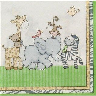 Bag-of-Chips Baby Safari Baby Shower Luncheon Napkins | Shop Hobby Lobby