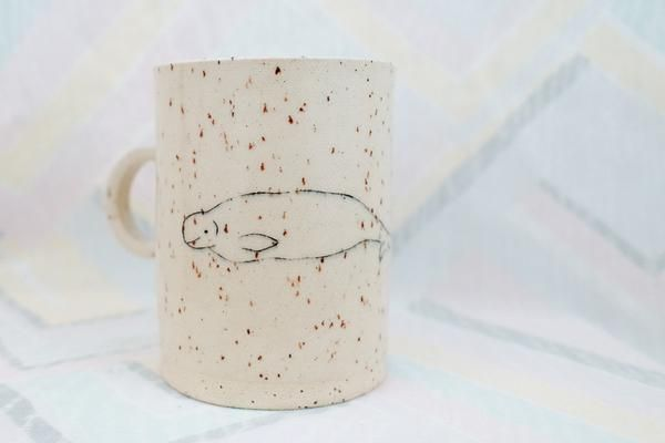 Hand Made Ceramic Whale Cup by Cailin Day, A Canadian Product on Chill Bay General www.chillbay.ca