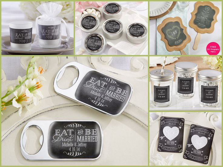 Personalized Chalkboard Party Favors from HotRef.com