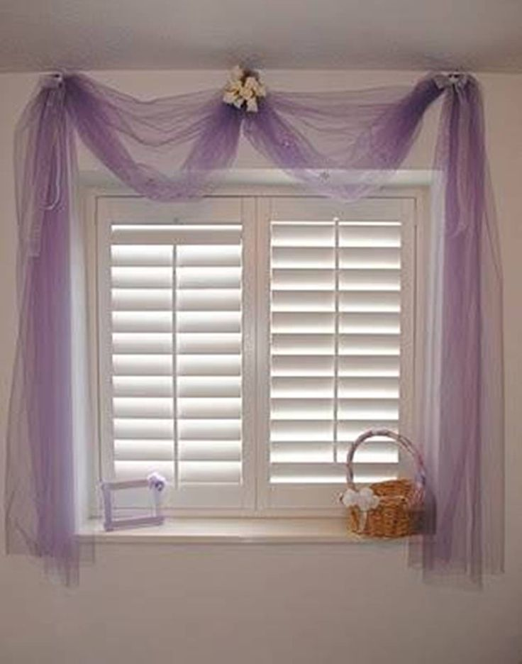 Best 10 tulle curtains ideas on pinterest bed valance for Best window treatments for casement windows