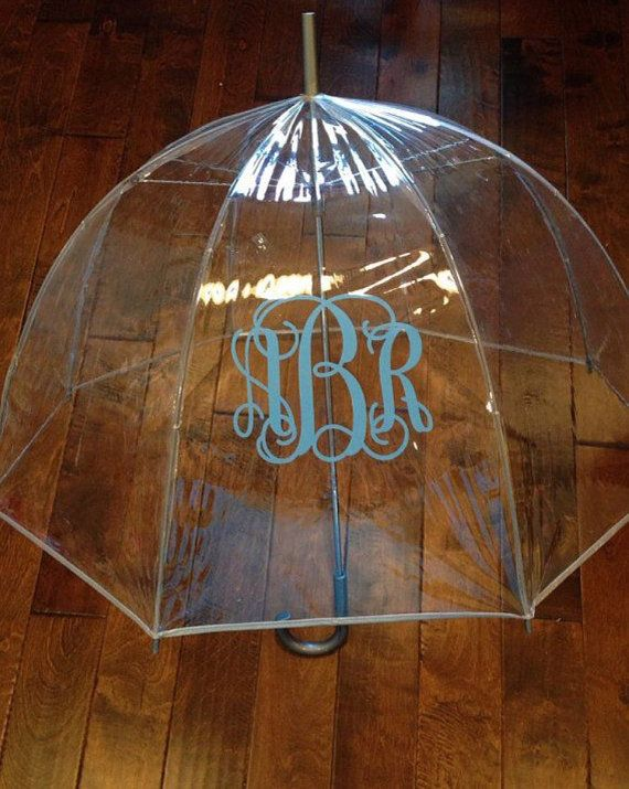 monogram umbrella clear umbrella dome umbrella by dmbDesigns22
