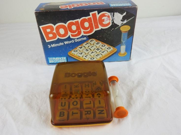 1987 BOGGLE   3-MINUTE WORD GAME   PARKER BROTHERS #0384  #ParkerBrothers