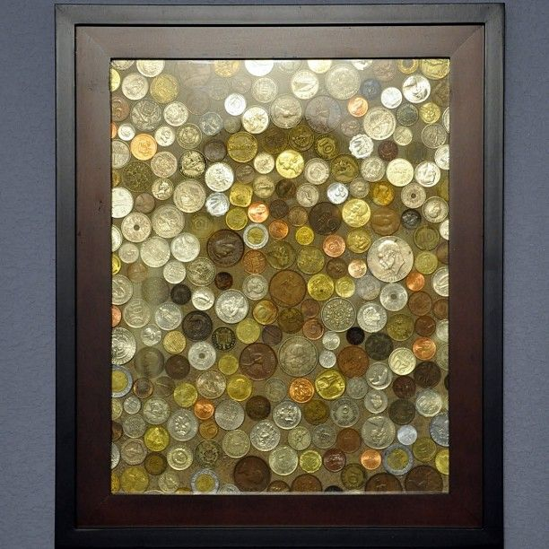 Don't know what to do with all those coins u e collected from different countries? FRAME THEM!