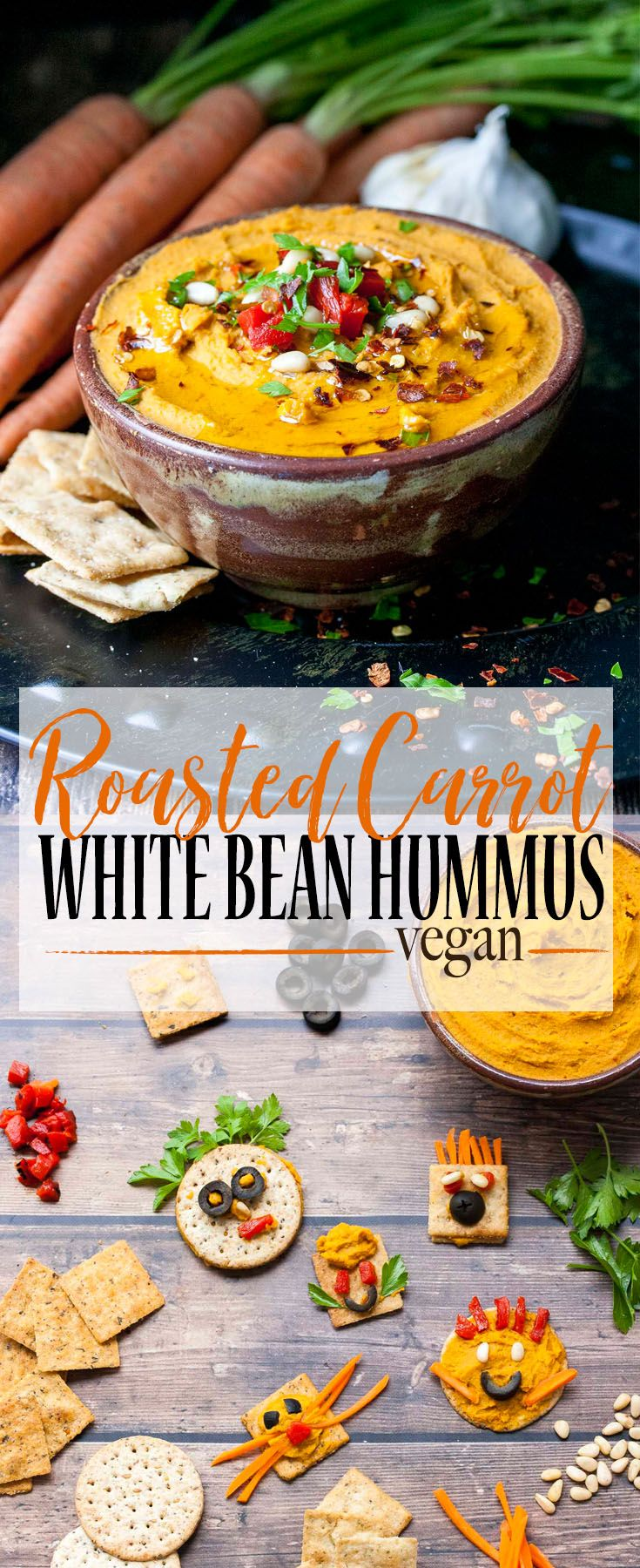 Roasted Carrot White  Bean Hummus