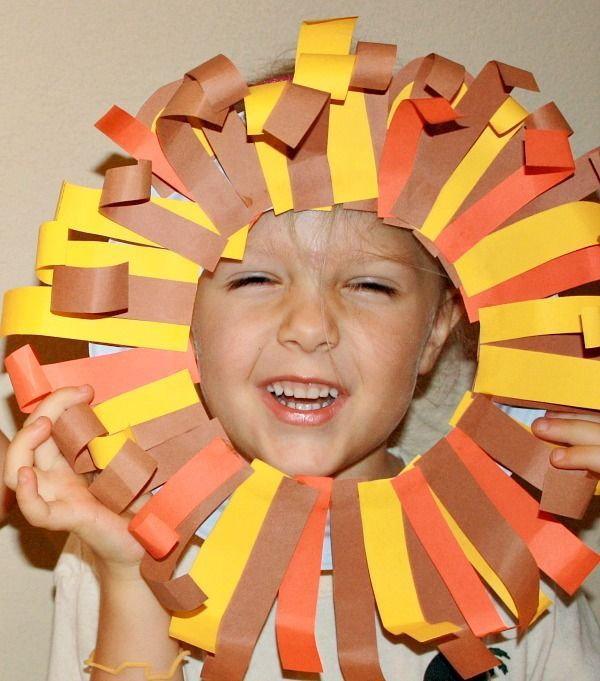 This lion mask is a craft idea to use while teaching kids about endangered animals such as African Lions.