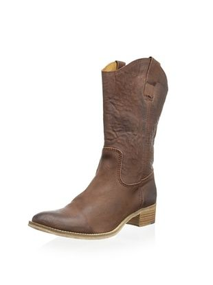 50% OFF Modern Fiction Women's Western Inspired Pull On Boot (Brown)