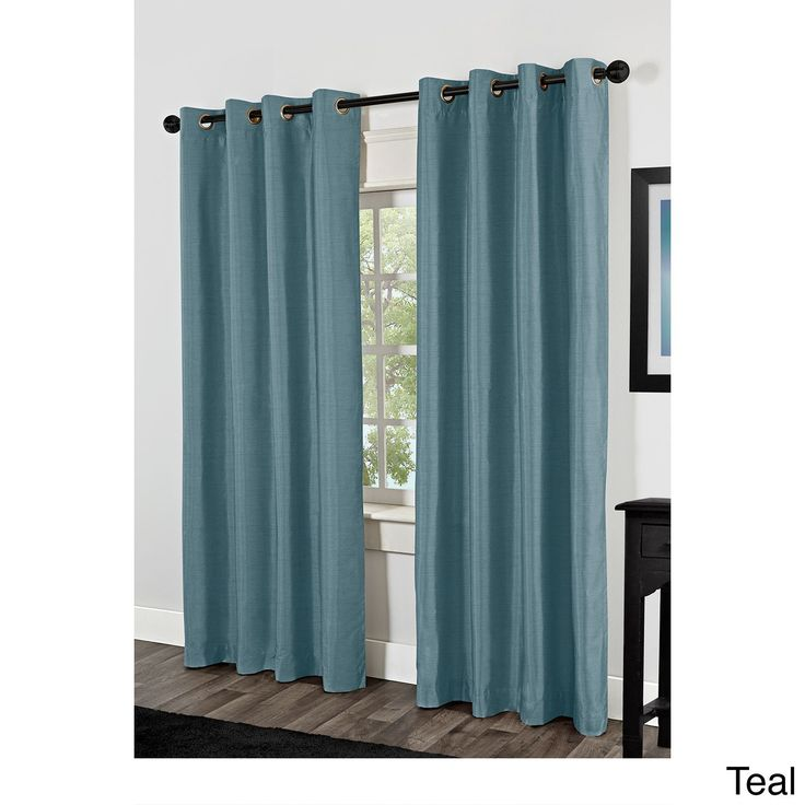 ATI Home Shantung Thermal Insulated Grommet Top Curtain 84 - 96-inch Length Panel Pair (Shantung 84-Inch Teal), Blue, Size 54 x 84 (Fabric, Solid) http://homeremodelinggrid.us/creative-ways-to-give-your-floors-a-new-look/