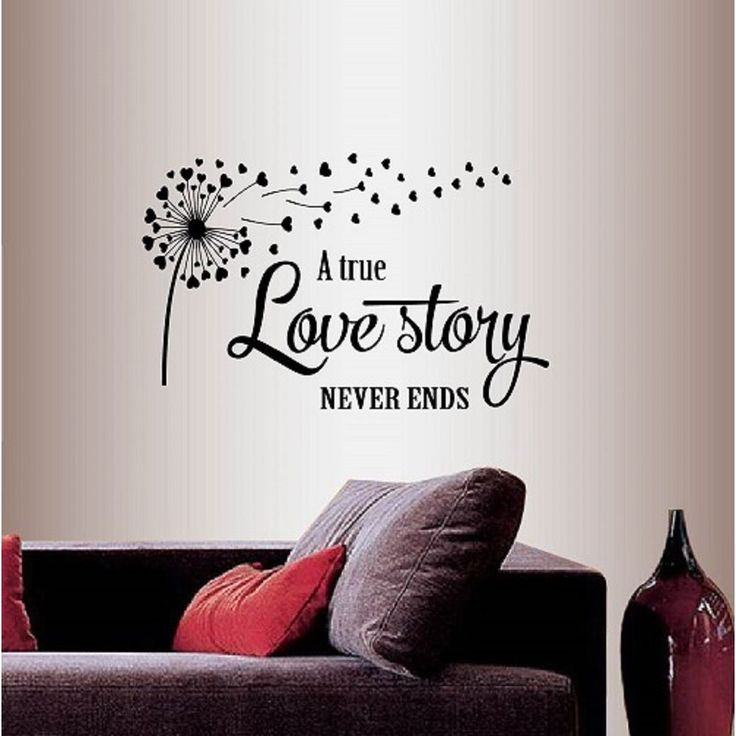 Decal A True Love Story Never Ends Quote Phrase Love Family Hearts