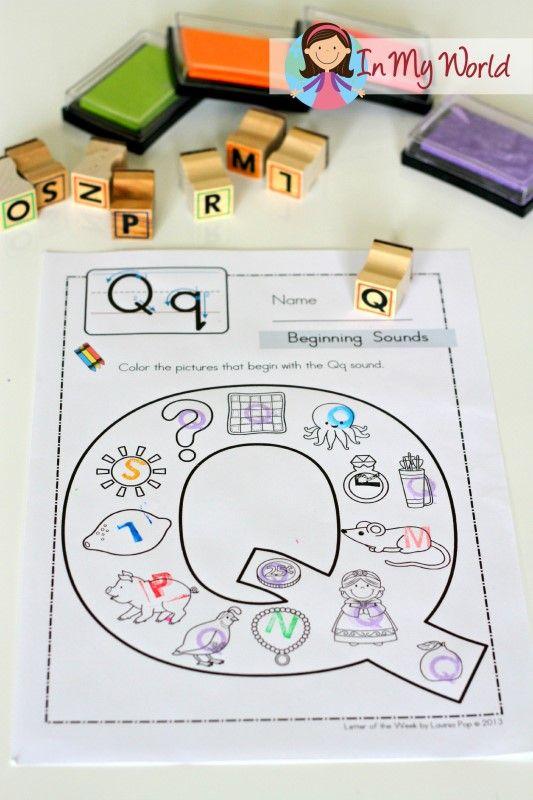 Letter Q FREE no prep beginning sounds worksheet